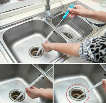 how to clean sink overflow