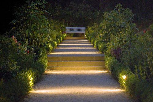 How to light a garden